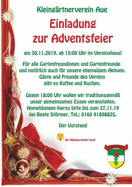 Adventfeier 2019 Aue