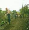 Herbst 1987 Drainage verlegen Bahnseite