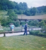Juni 1989 Drainage verlegen