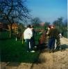 April 1990 Arbeitseinsatz beim Vereinsheim